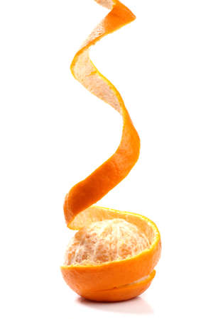 Peel of an orange isolated on white background  Stock Photo