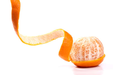 Peel of an orange isolated on white background  photo