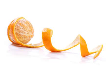 mandarin: Peel of an orange isolated on white background  Stock Photo