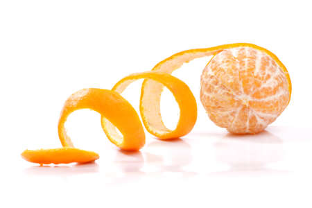 rinds: Peel of an orange isolated on white background  Stock Photo