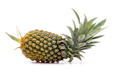 whole pinapple detail isolated on white background  photo