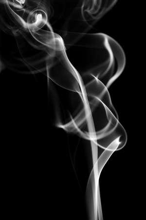 cigar smoke: Abstract smoke isolated on black