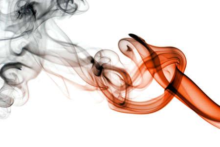 smoke effect: Abstract smoke isolated on white Stock Photo