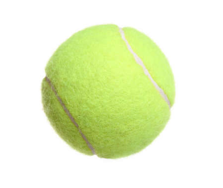 tennis ball on white background. photo