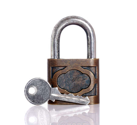 Key lock on white. Stock Photo - 12329285