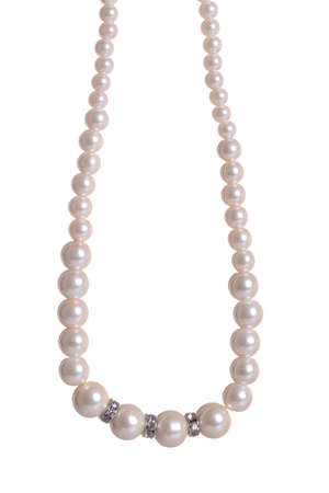 pearl necklace: Pearl Necklace isolated on white