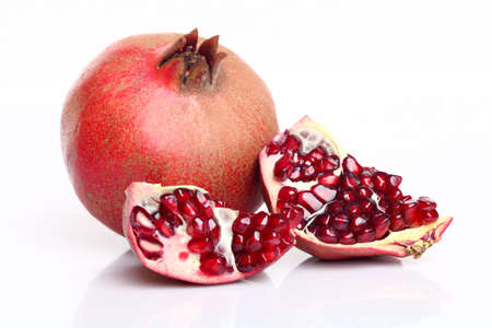 pomegranate on white background Stock Photo