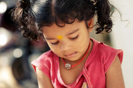 only girls: Cute Indian little girl.  Stock Photo