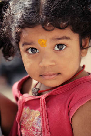 indian child: Cute Indian little girl.  Stock Photo