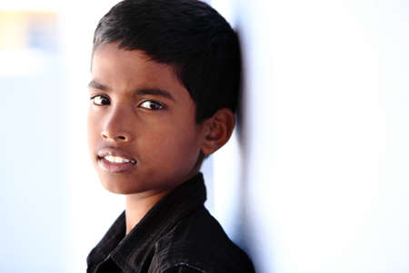 Portrait of Indian teen boy photo
