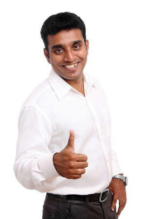 Indian business posing, isolated on a white background   photo