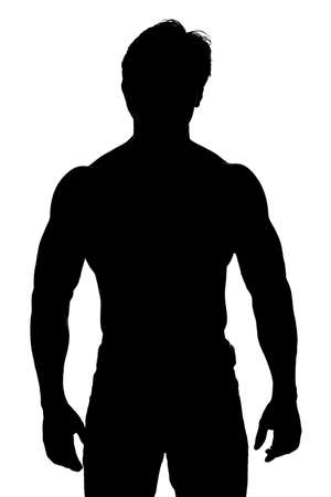asian bodybuilder: Indian young fitness man taken with silhouette
