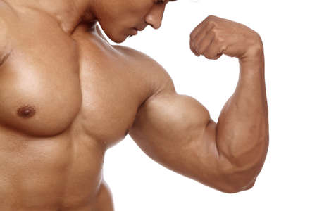abdomen fitness: Indio de fitness joven posando a la c�mara. Foto de archivo