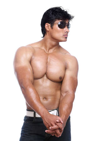 Indian young fitness man posing to the camera.  Stock Photo - 12367385