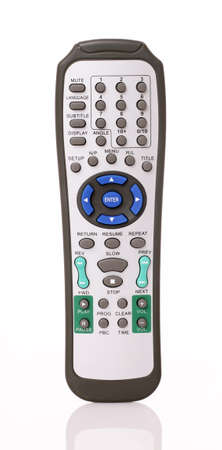 infra red: Single infrared universal remote control for media center   Stock Photo