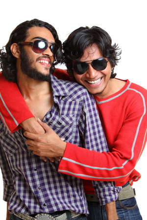 Two Indian young man posing casually to the camera   photo