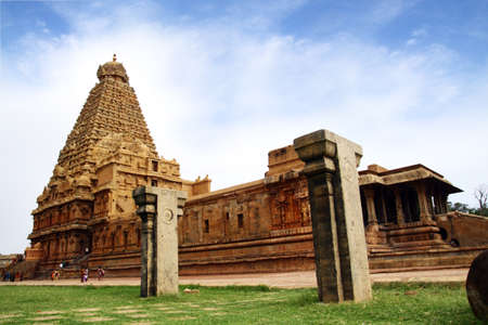 Brihadeeswarar Hindu Temple in Thanjavur  Tamil Nadu, India  Stock Photo