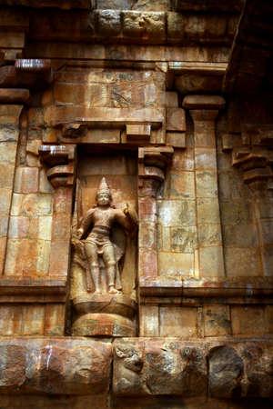 indian animal: Stone carvings in Hindu temple,Thanjavur, Tamil Nadu, India  Stock Photo