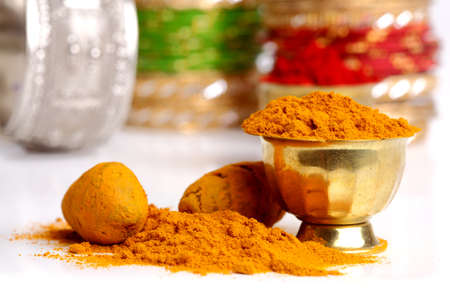 Turmeric powder arrangements  photo