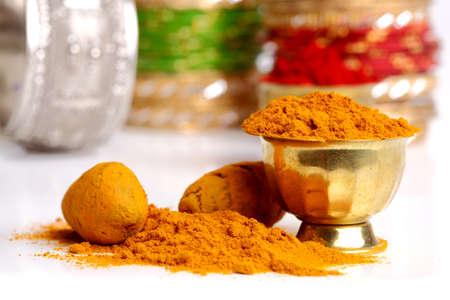 Turmeric powder arrangements  photo