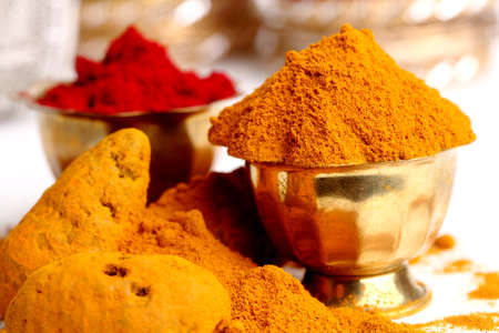 dry powder: turmeric powder , indian spice