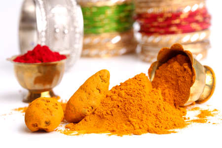 indian cookery: turmeric powder , indian spice
