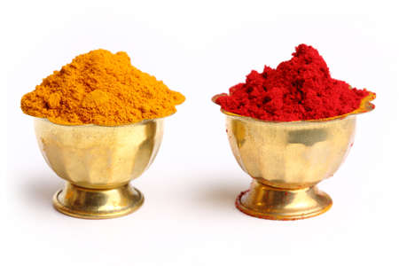 turmeric   kumkum powder , indian spice