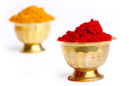curcumin: turmeric   kumkum powder , indian spice