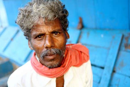 Indian senior man looking at the camera   photo