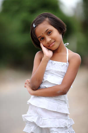 Beautiful Indian little girl  Stock Photo - 13486603
