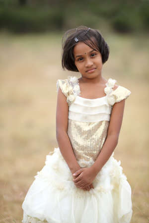 south asian: Beautiful Indian little girl