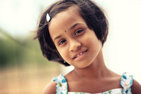 Beautiful Indian little girl  photo