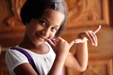niños bailando: Cute Indian niña