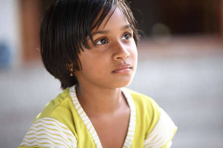 Beautiful Indian little girl  photo