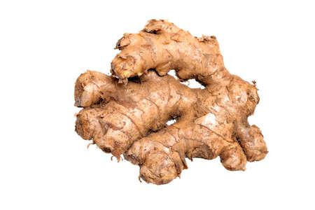 tuber: Ginger Root Isolated On White Background
