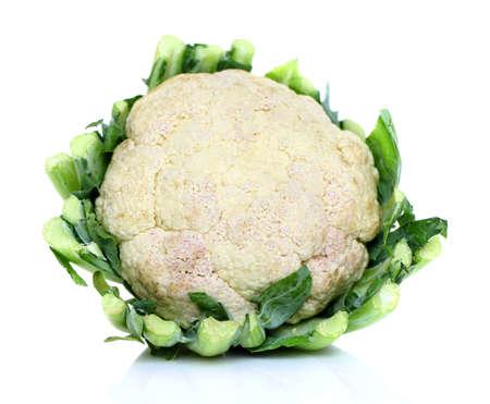 head of cauliflower: Cauliflower isolated on white background