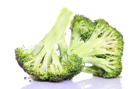 broccolli: Fresh broccoli on white  Stock Photo