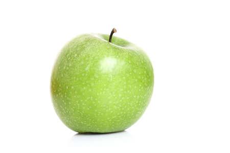 lifestyle: green Apple on white background