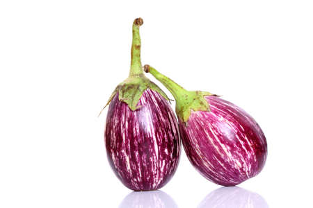 brinjal: Ripe eggplant isolated on a white background