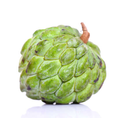 Cherimoya fruit on white  photo