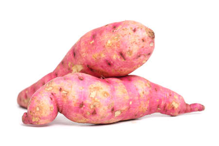 two sweet potatoes on a white background  Stock Photo - 13554467