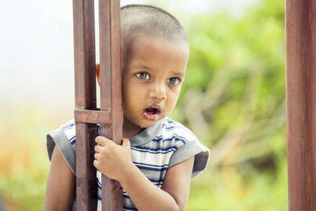 Cute Indian little boy Portrait photo