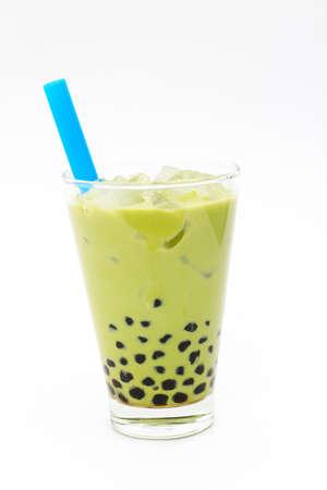 Matcha milk bubble tea