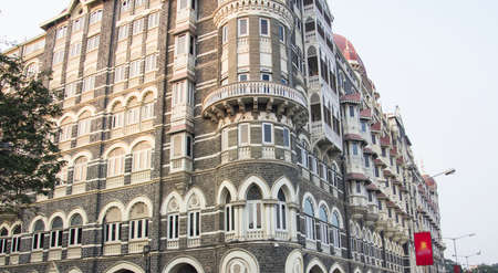 The famous Taj Mahal Hotel of Bombay is situated opposite of the Gateway of India