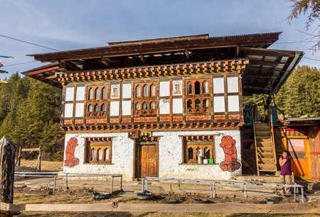 phallus: A house with big phallus wall paintings near Bumthang, Bhutan