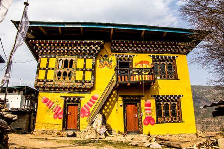 phallus: A bhutanese house with traditional phallus paintings near Punakha, Bhutan  The phallus is a religious symbol in Bhutan