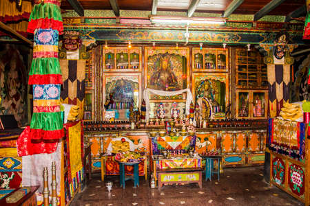 ling: The temple of yung drung kundrak ling bon monastery near Ravangla, India. Editorial