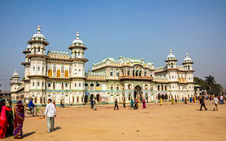 sita: Janaki Mandir, Janakpur, India, was buildt in 1911 AD, and is considered as the most important example of the Rajput architecture in Nepal   It is dedicated to goddess Sita