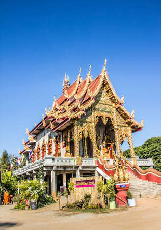 fang: A typical buddhist thai temple near the small town of Fang in the north of Thailand