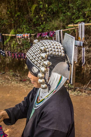 Woman of the Akha tribe in the hills near keng Tung